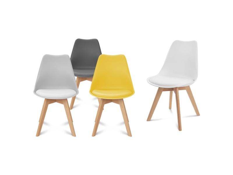 de foncégris clairblanc 4 jaune chaises gris Lot sara et Qrsdht