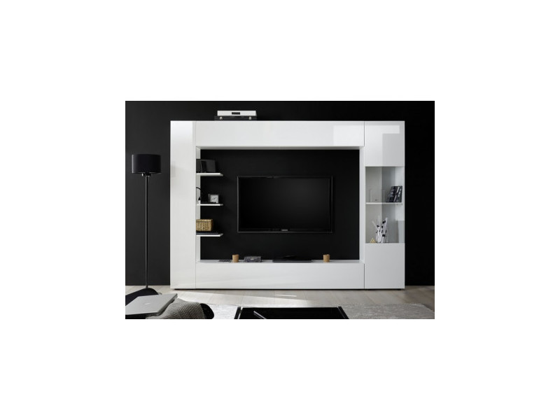 Ensemble meuble tv soprano blanc 295 cm