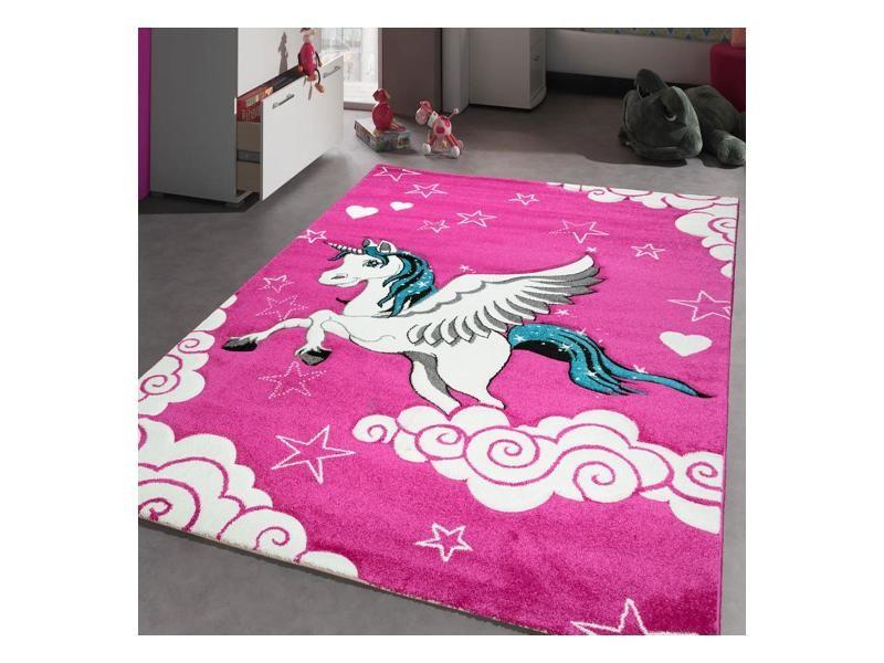 Jadorel 120 x 170 cm tapis enfant licorne doux et solide ...