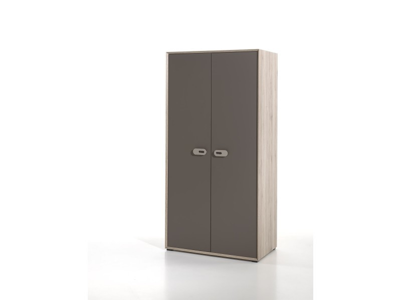 Vipack armoire emiel 2 portes bois naturel EMKL1280