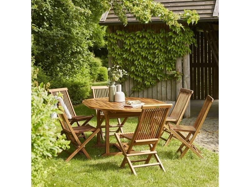 Salon de jardin en bois de teck 6 à 8 places - Vente de Salon de ...