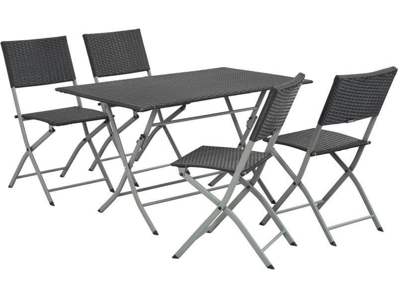 salon de jardin en r sine tress e sydney atlanta. Black Bedroom Furniture Sets. Home Design Ideas