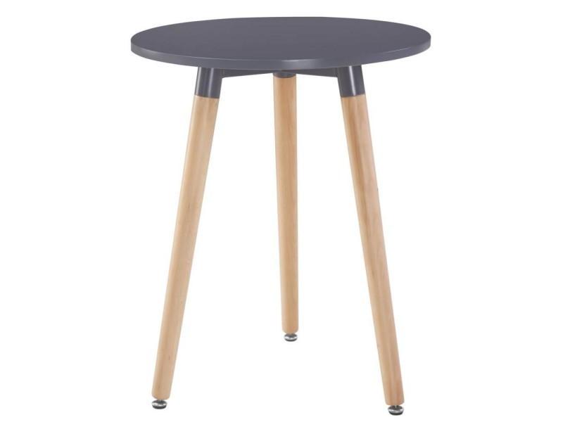 Table ronde style scandinave norway 80 x 75 cm noir mat 20100869834