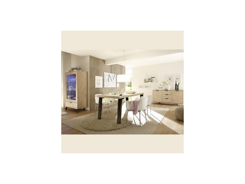 Salle à manger complète moderne couleur bois clair jace ...