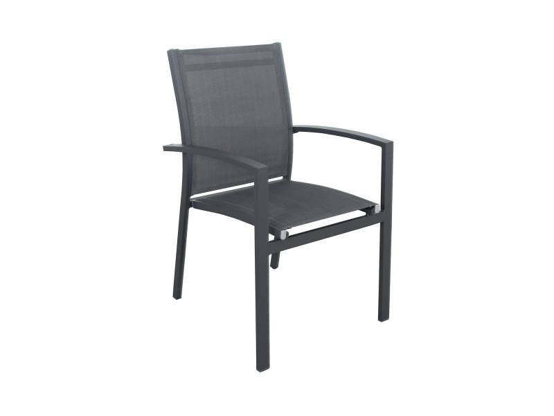 Table de jardin extensible aluminium 135/270cm + 8 fauteuils ...
