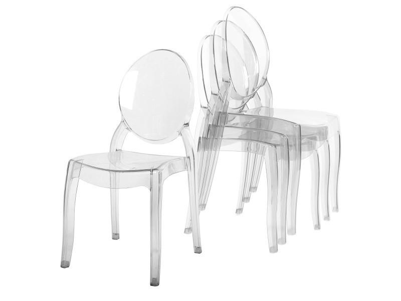 chaise transparente design conforama