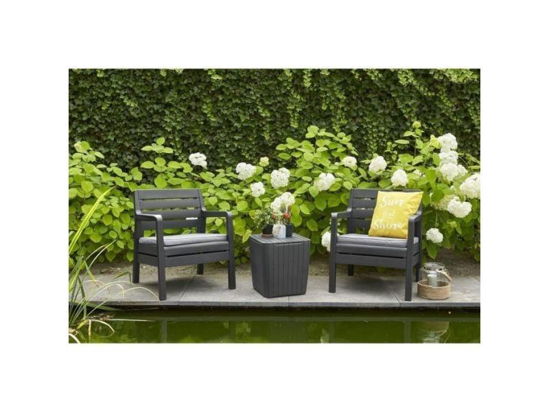 Salon de jardin - ensemble table chaise fauteuil de jardin ...