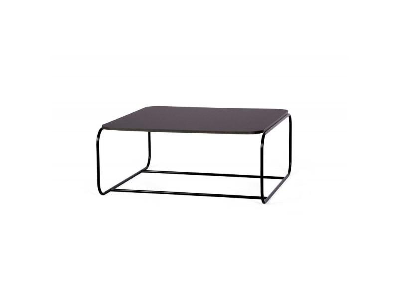Table basse industrielle en métal hayley / coloris : noir