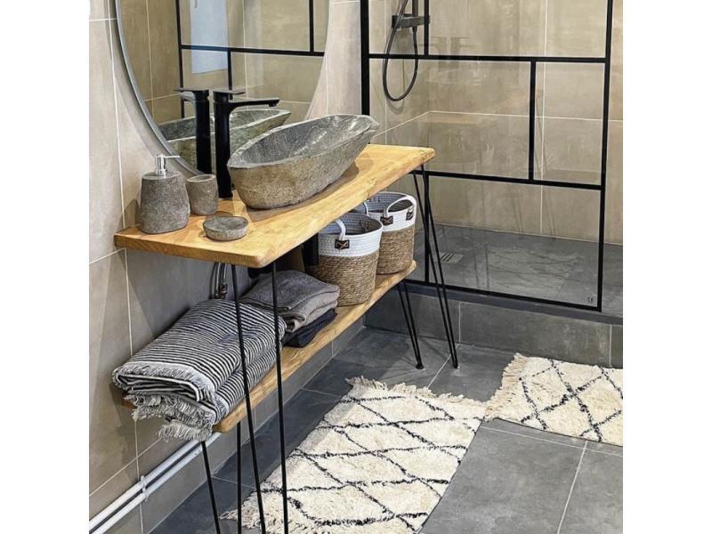vasque a poser pierre de riviere Vasque à poser en pierre de rivière 90-100 cm, galéo xxl