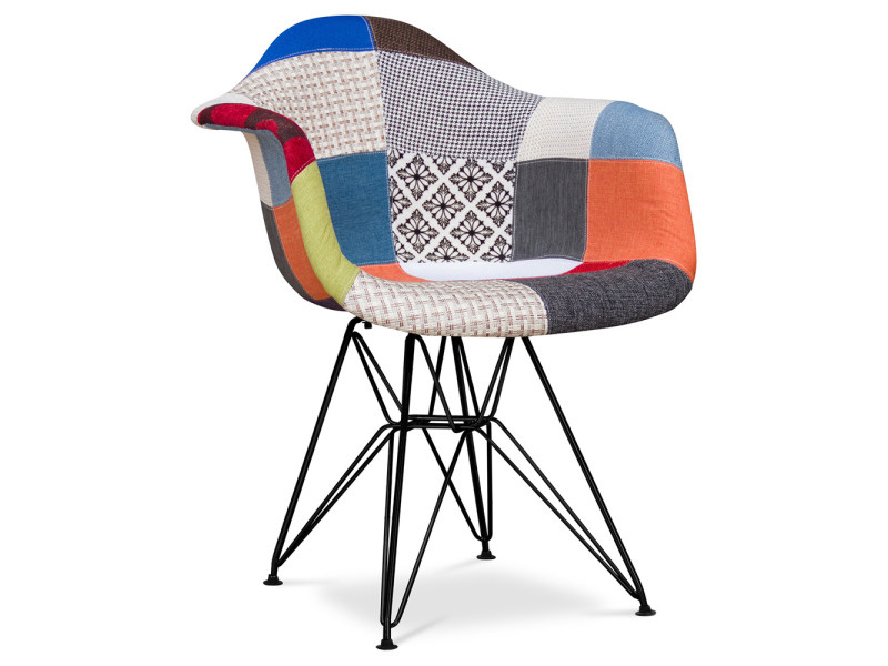 Chaise dar patchwork charles eames style multicolore