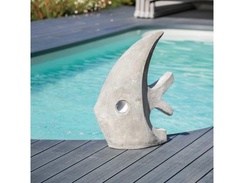 sculpture contemporaine jardin Sculpture contemporaine poisson 78cm gris