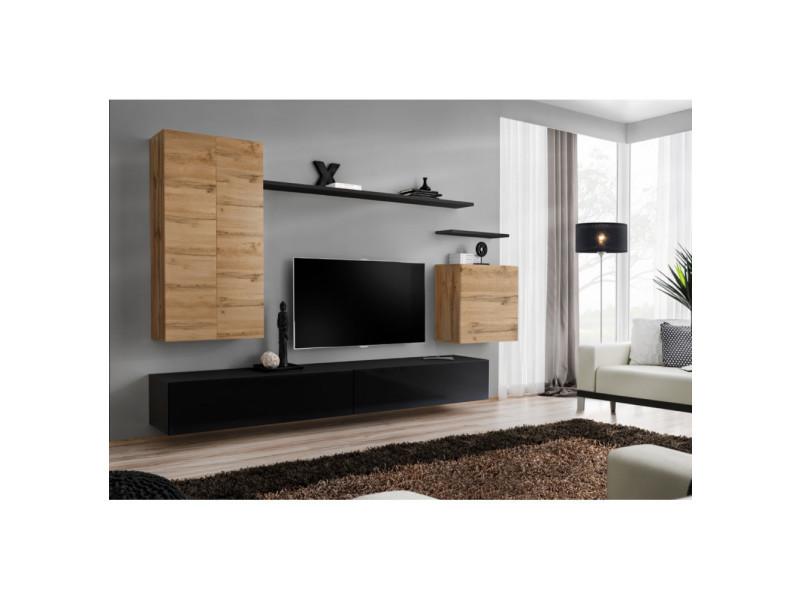Royaume-Uni disponibilité fcba4 85c40 Ensemble mural - switch xx - 1 vitrine led - 1 banc tv - 1 ...