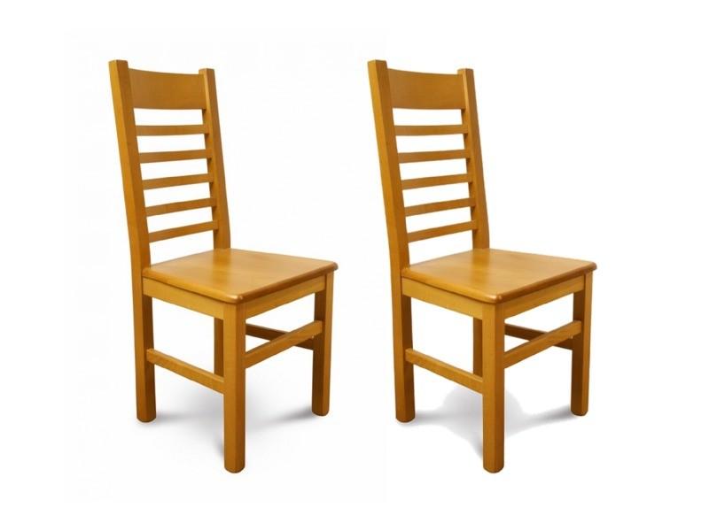 chaises bois massif ch ne clair lot de 2 vente de. Black Bedroom Furniture Sets. Home Design Ideas