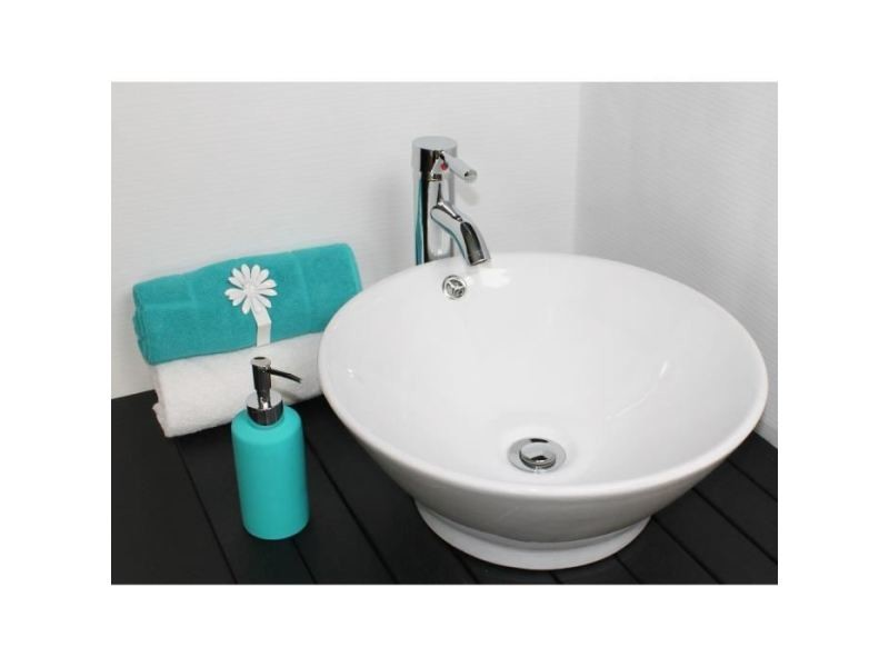 Lavabo Vasque Vasque En Ceramique Amalfi Blanc Vente De