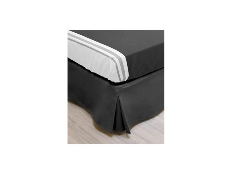 Linge De Lit Conforama.Cache Sommier Noir Decoration Sommier 140 X 190 Cm Linge
