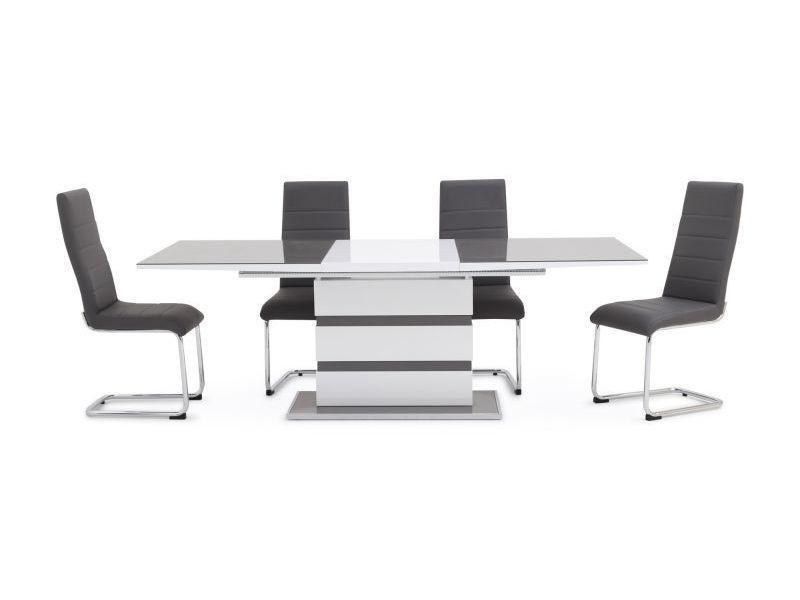 Table à manger extensible rectangulaire 160 ÷ 220 cm x 90 cm x 76 cm