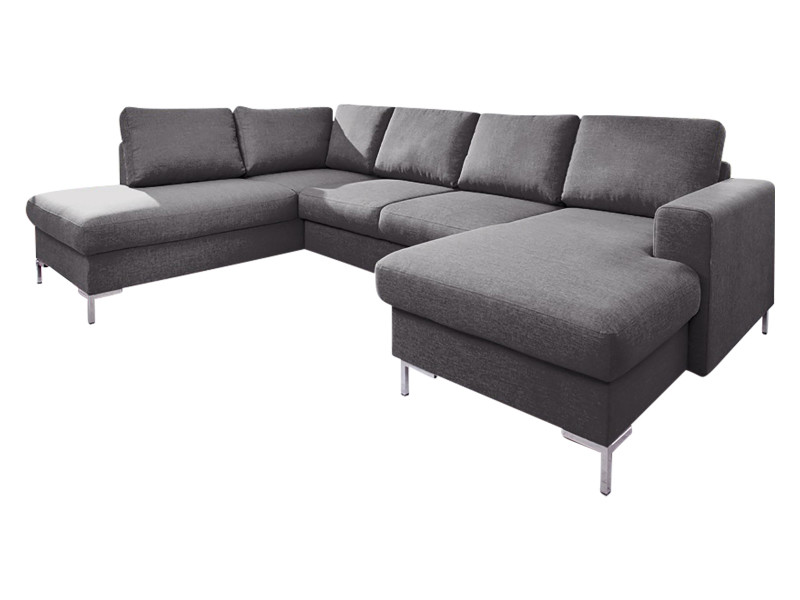 Canapé lilly panoramique convertible coffre gris anthracite 5906395167890