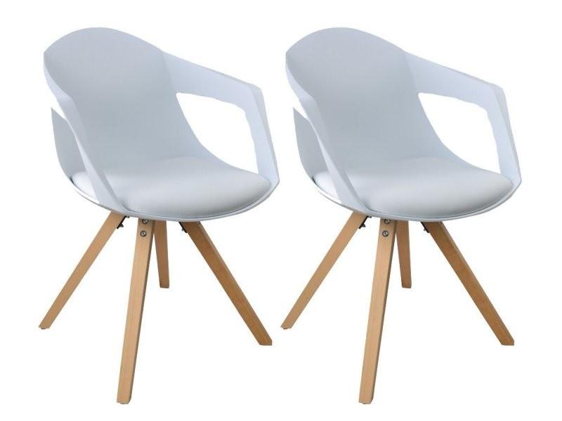 Chaises 2 Nordique Avec Style Lot Accoudoirs De A18blanc rodxeCBW