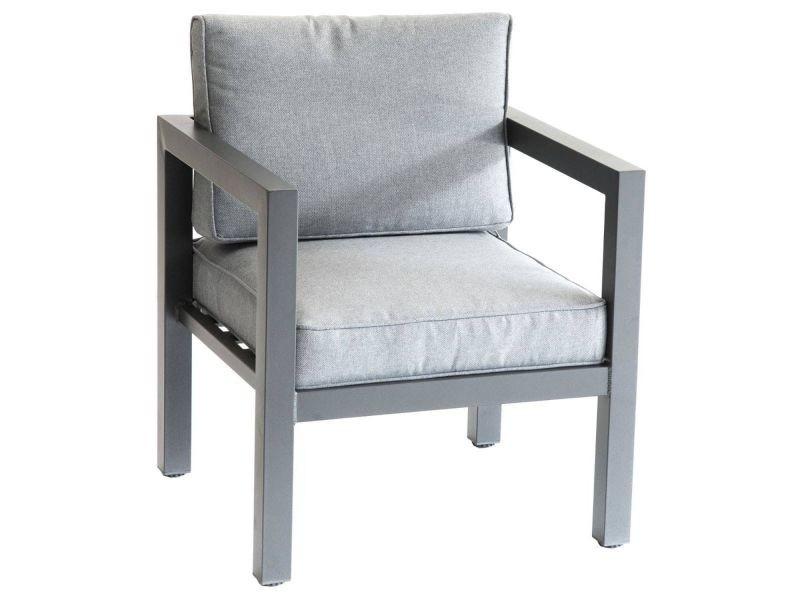 Salon de jardin azua - 5 places - gris graphite - Vente de Salon de ...