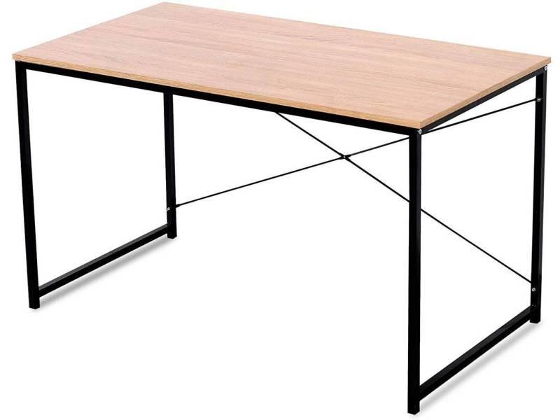 Table de bureau adulte classique au design 120 cm moderne naturel helloshop26 19_0000608