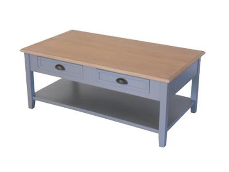 Table basse avec 4 tiroirs damian mdf, l.110 x l.60 x h.45 cm -pegane-