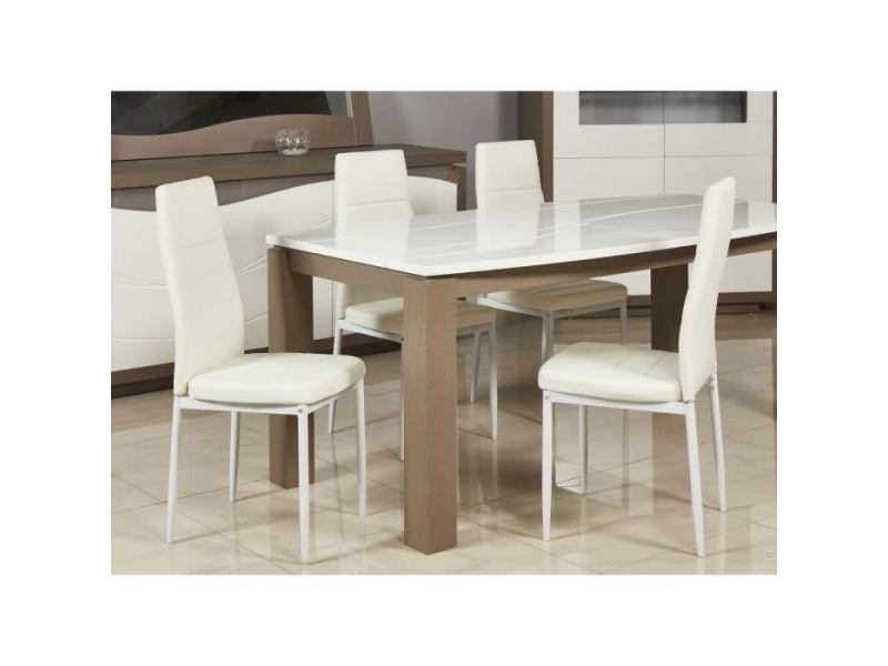 Chaise vogue lot de 4 chaises de salle a manger - simili ...