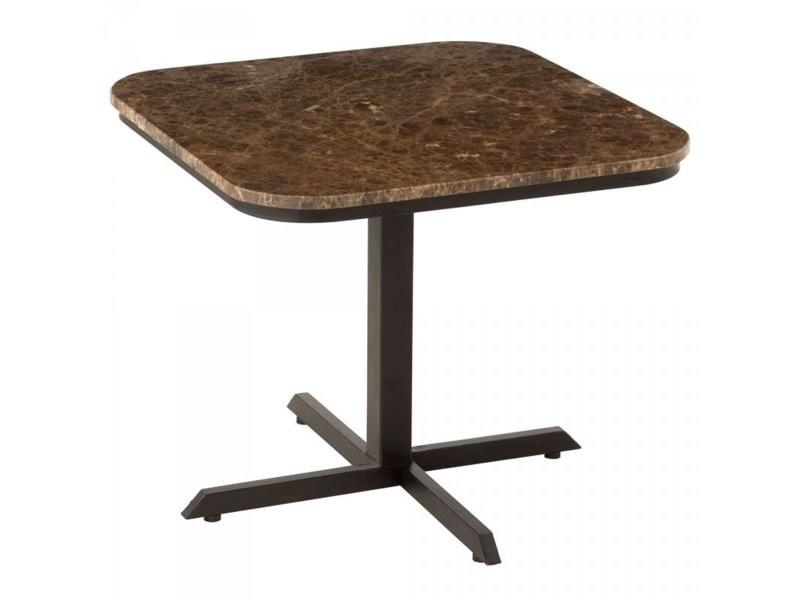 Table basse carrée en marbre 60x60cm audace 19406