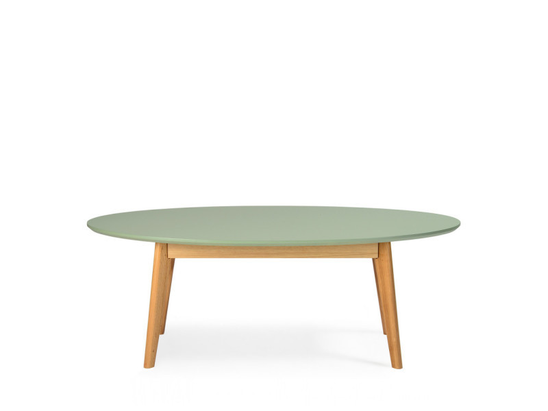 skoll table basse scandinave ovale couleur vert kaki 180013 vente de drawer conforama