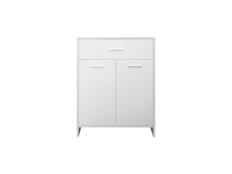 Ml-design armoire de toilette blanche, 60x80x33 cm, en mdf 490001605