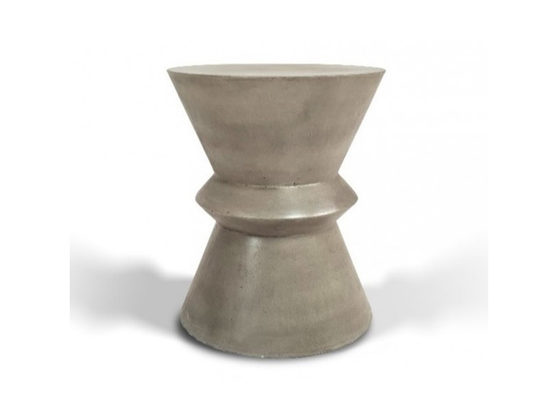 Beton - stèle diabolo en béton gris