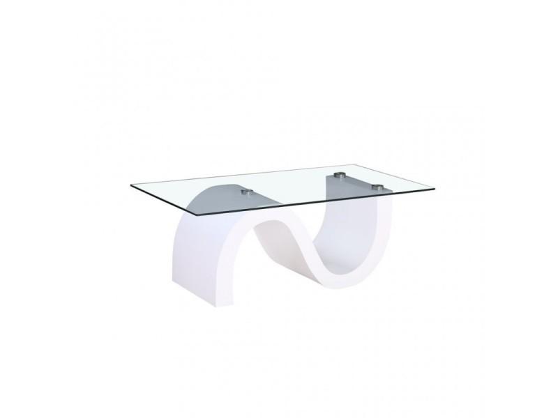 design intemporel 50fb1 8c484 Table basse en verre avec pieds blancs 410646 - Vente de ...