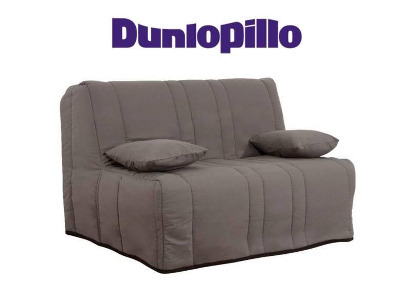 Canapé convertible bz love taupe système slyde matelas dunlopillo 15cm couchage 160*200cm 20100875437