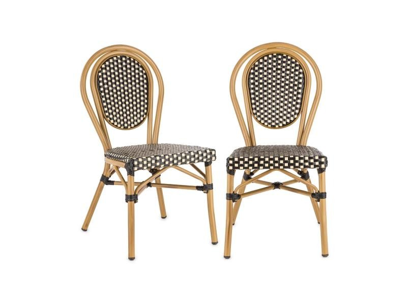 Chaises Style En Jardin De Montpellier Bistro Blumfeldt Bl Lot 2 PuiwkTOXZ
