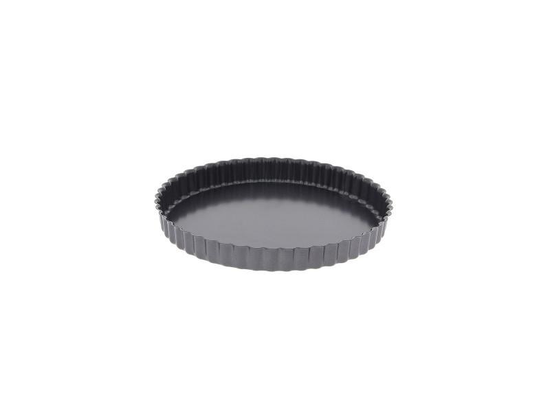 Moule à tarte 28 cm en acier anti adhèrent fond fixe