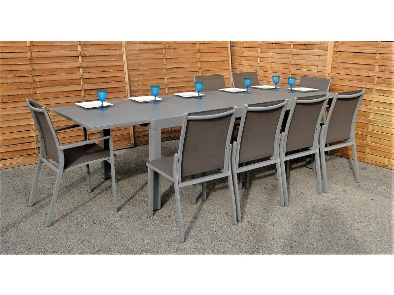 Mademoiselle kayla | table et chaises extérieur sorrente gris, en ...