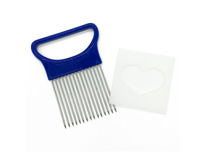 Gadgets de cuisine bleu outils de d\'aiguille de coupe d\'oignon de ...