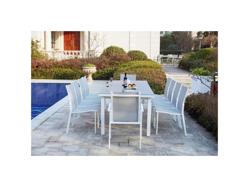 Moniga 10 : table de jardin extensible 10 personnes avec 2 ...