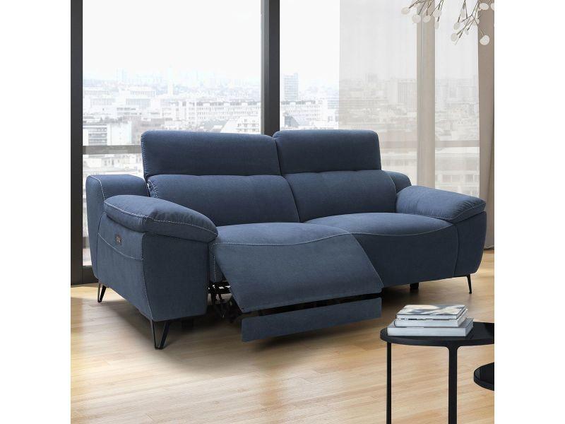 taille 40 ef448 f5e68 Palma - canapé relax electrique 3 places bleu - Vente de ...