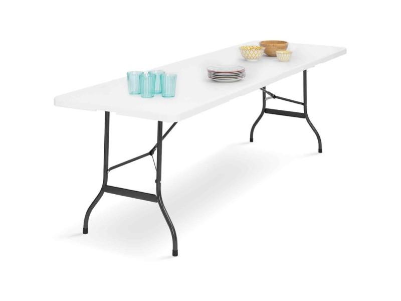 Table pliante d\'appoint portable pour camping ou réception 180 cm ...