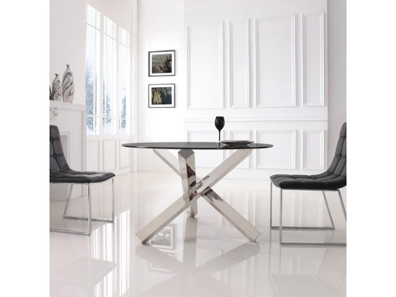 Table A Manger Ronde En Verre Transparent Elia Vente De Table