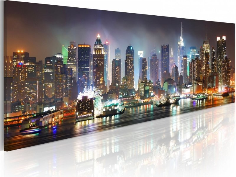 Tableau White Reflections In New York A1 Nm1210pwd Vente De Artgeist Conforama