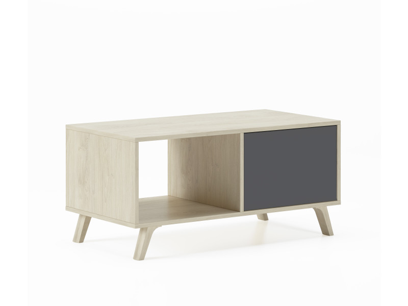 Table basse wind puccini-gris anthracite, 92x50x45cm
