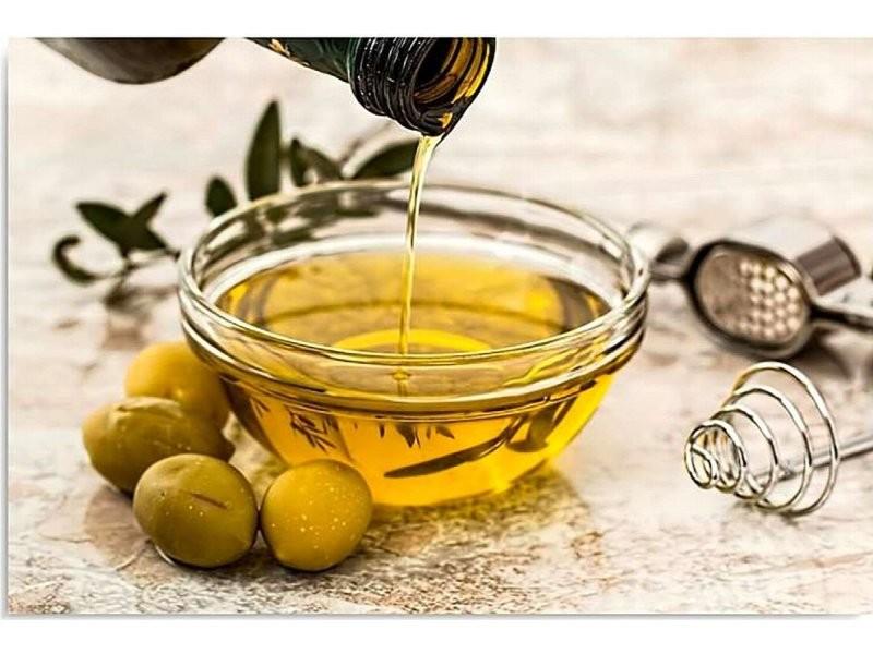 Tableau bois l'huile d'olive et les olives DPA/1-TYK/M_30772/40x30
