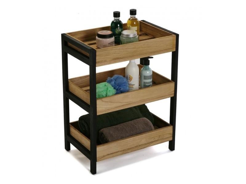 bain de ou cuisine salle Petite étagère de rangement bois en 0kN8nOPwZX
