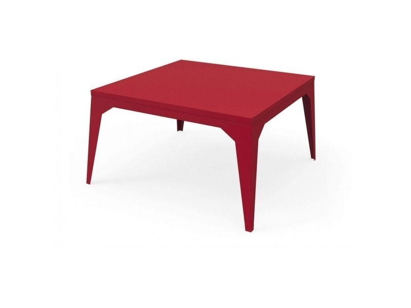 plus de photos 8379d 9d565 Table basse cuatro rouge pourpre TaB_CUA_Car80_h45_Pou ...