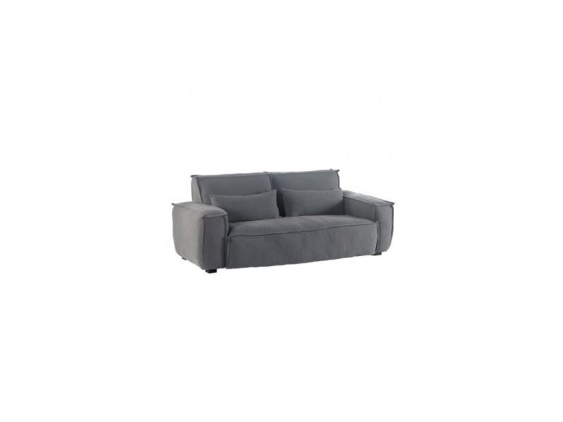 Canapé tissu beige 3 places calm 210 cm