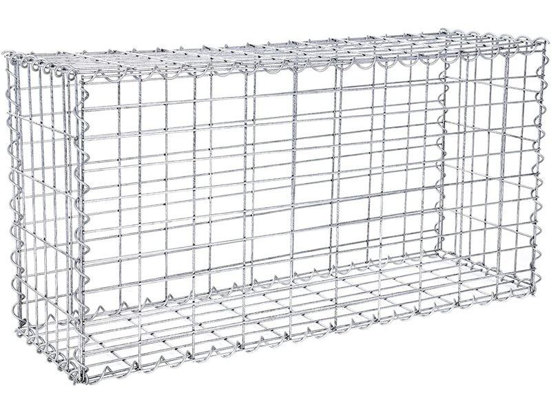 Gabion métalliques déco jardin clôture décorative ggb153 songmics ...
