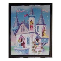 Tableau princesse 20 x 25 cm disney cadre enfant fille