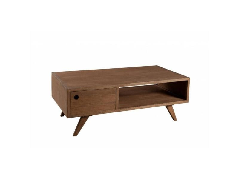 1 Fancy Basse Naturelle Table Scandinave Bois En Style Teinte Tiroir rxQCthsd