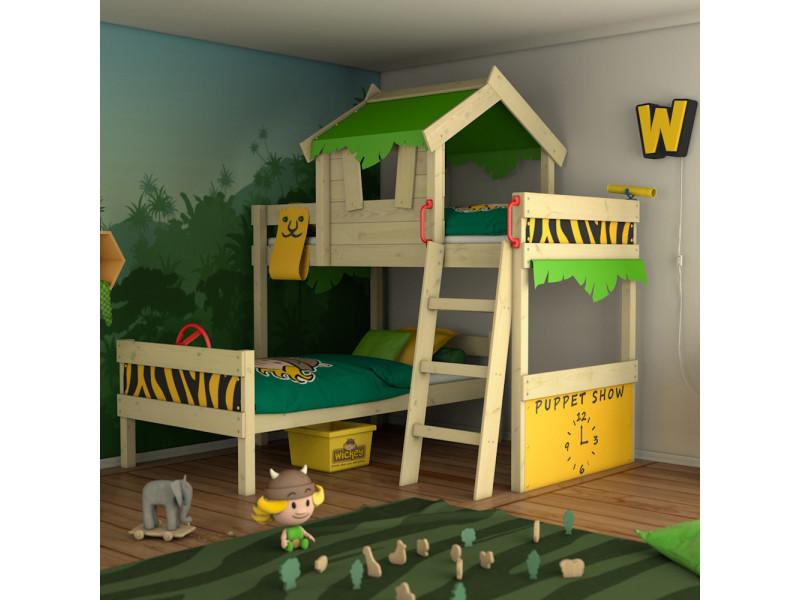 Merveilleux Wickey Lit Enfant U0027crazy Jungleu0027 Design Safari   Lit Superposé En Plusieurs  Combinaisons De